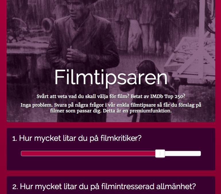 Introducing… Filmtipsaren!